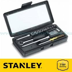 """Stanley 21 részes 1/4"""" metrikus dugókulcs készlet"""