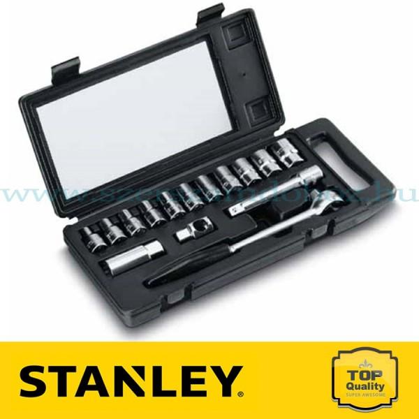"""Stanley 15 részes 1/2"""" metrikus dugókulcskészlet"""