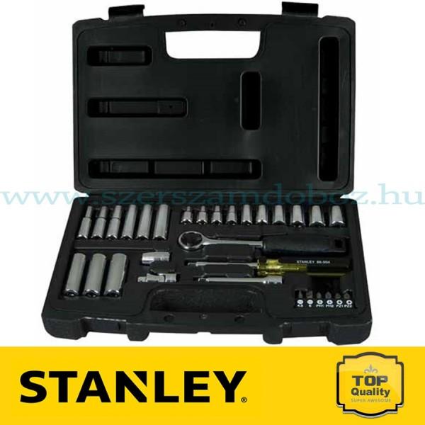 """Stanley 30 részes 1/4"""" Dugókulcs készlet"""
