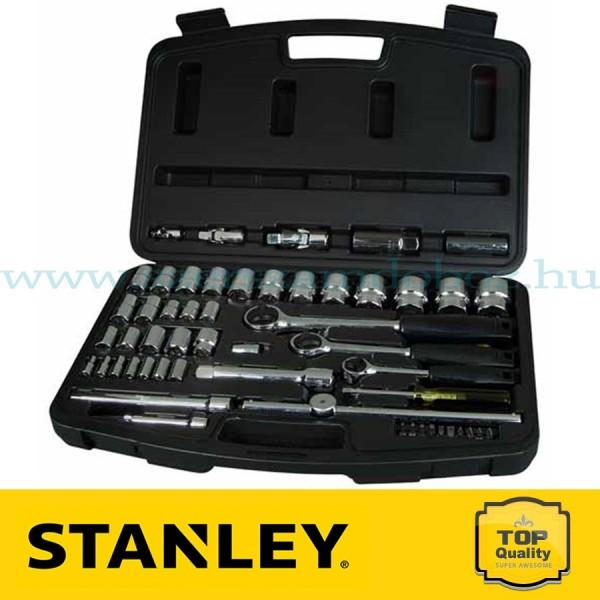 """Stanley 60 részes 3/8"""", 1/2"""" és 1/4"""" Dugókulcs készlet"""