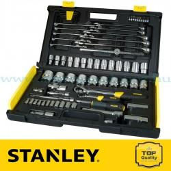 """Stanley 75 részes 1/2"""" és 1/4"""" Mikroracsnis dugókulcs készlet"""