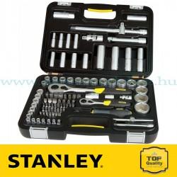 """Stanley 96 részes 1/2"""" és 1/4"""" Ipari dugókulcs készlet"""