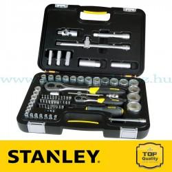 """Stanley 77 részes 1/2"""" és 1/4"""" Ipari dugókulcs készlet"""