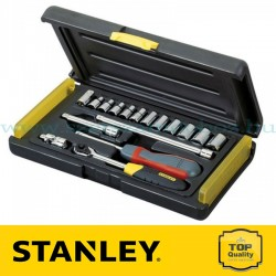 """Stanley 18 részes 1/4"""" Mikroracsnis dugókulcs készlet"""