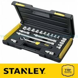 """Stanley 21 részes 1/2"""" és 3/8"""" Mikroracsnis dugókulcs készlet"""