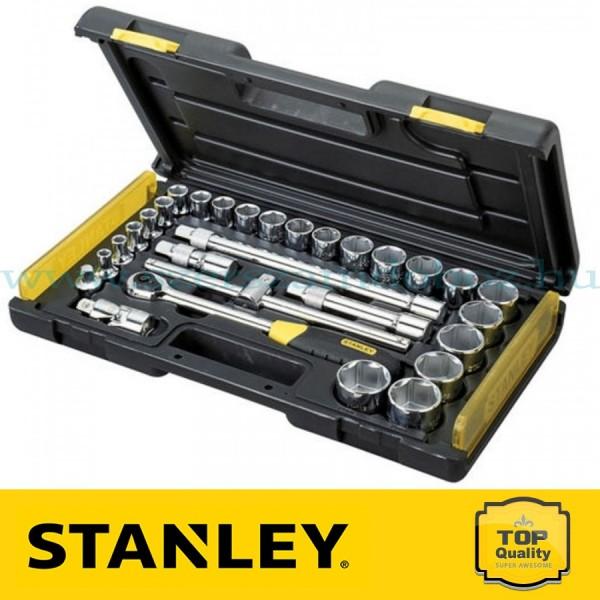 """Stanley 28 részes 1/2"""" és 1/4"""" Mikroracsnis dugókulcs készlet"""