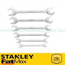 Stanley FatMax 6 db-os nyitottfejű villáskulcs készlet
