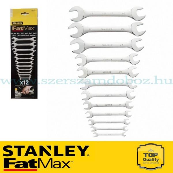 Stanley FatMax 12 db-os nyitottfejű villáskulcs készlet