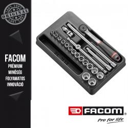 """FACOM 3/8"""" - os hatlapú dugókulcs készlet modul tartozékokkal"""