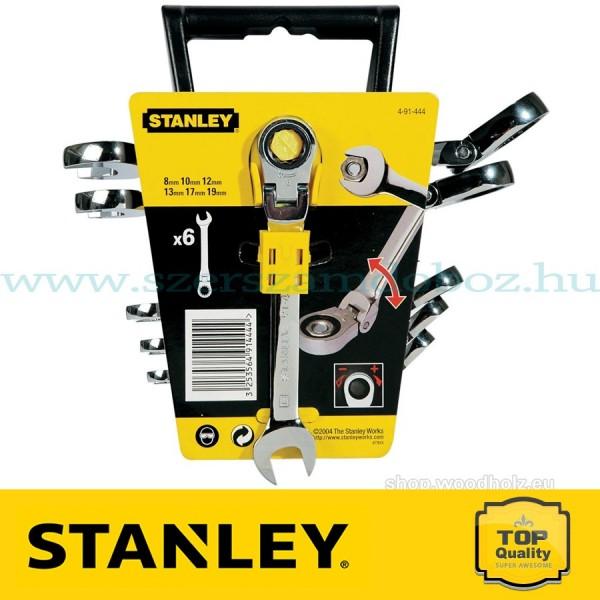Stanley 6 db-os Csuklós fejű csillag-villáskulcs készlet