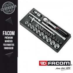 """FACOM 1/2""""-es 6 pontos dugókulcskészlet modul tartozékkal"""