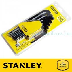 Stanley 12 db-os metrikus imbuszkulcs készlet