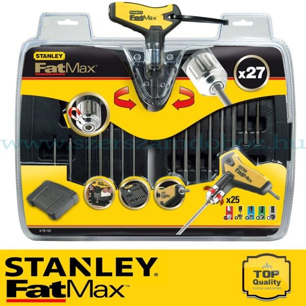 Stanley FatMax 27 db-os Racsnis T hajtókar készlet