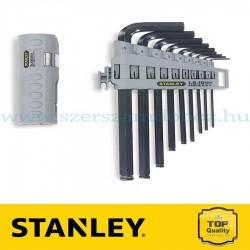 Stanley 9 db-os Gömbölyített és egyenes imbuszkulcs készlet