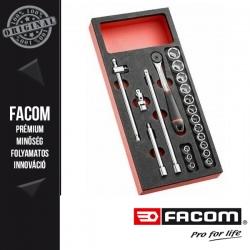 """FACOM modul 3/8""""-os hatlapú dugókulcs készlet tartozékokkal"""