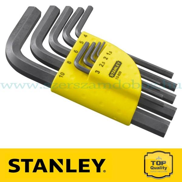 Stanley 9 db-os imbuszkulcs készlet rövid 1,5 - 10 mm