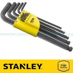 Stanley 9 db-os imbuszkulcs készlet hosszú gömbfejes 1,5 - 10 mm