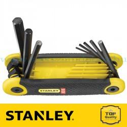 Stanley 8 részes összecsukható imbuszkulcs készlet