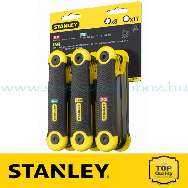 Stanley 25 részes összecsukható imbuszkulcs készlet