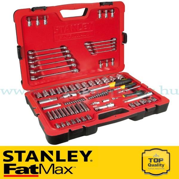 """Stanley FatMax 84 1/2"""" és 1/4"""" részes selyemfényű króm dugókulcs készlet"""