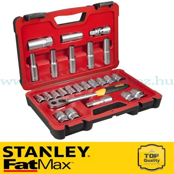 """Stanley FatMax 25 részes 1/2"""" selyemfényű króm dugókulcs készlet"""