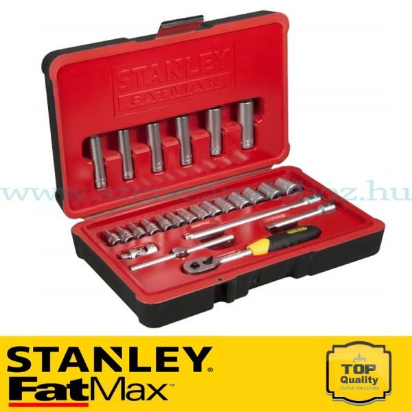 """Stanley FatMax 25 részes 1/4"""" selyemfényű króm dugókulcs készlet"""
