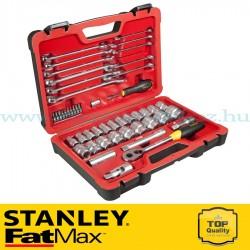 """Stanley FatMax 50 részes 1/2"""" és 1/4"""" selyemfényű króm dugókulcs készlet"""