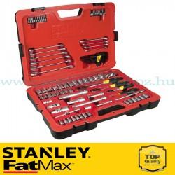 """Stanley FatMax 96 részes 3/8"""", 1/2"""" és 1/4"""" selyemfényű króm dugókulcs készlet"""