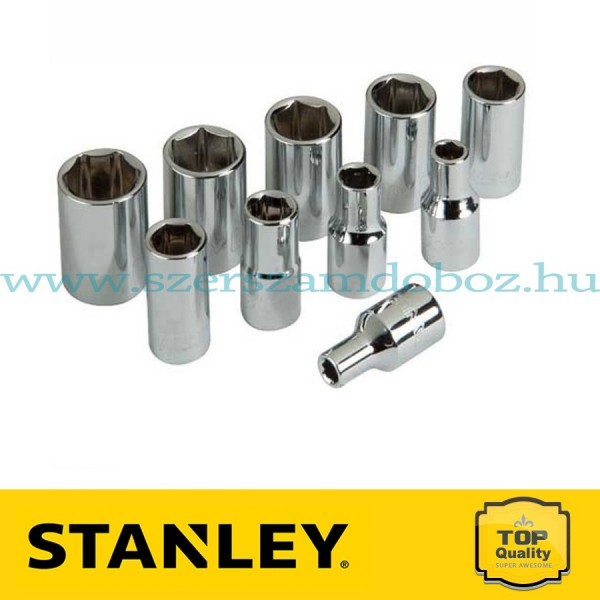 """Stanley 10 részes 1/4"""" dugókulcs készlet"""