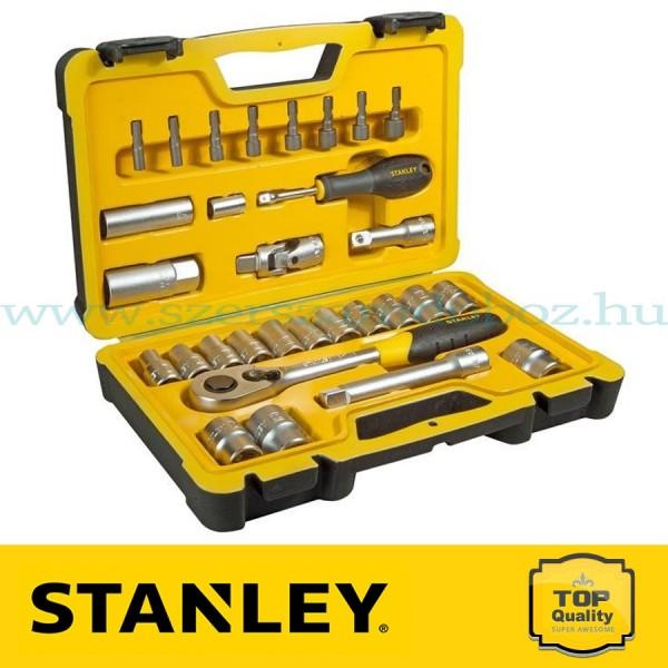 """Stanley 30 részes 1/2"""" selyemfényű króm dugókulcs készlet"""