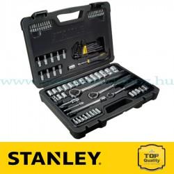 """Stanley 80 részes 1/2"""", 1/4"""" és 3/8"""" fényes króm dugókulcs készlet"""