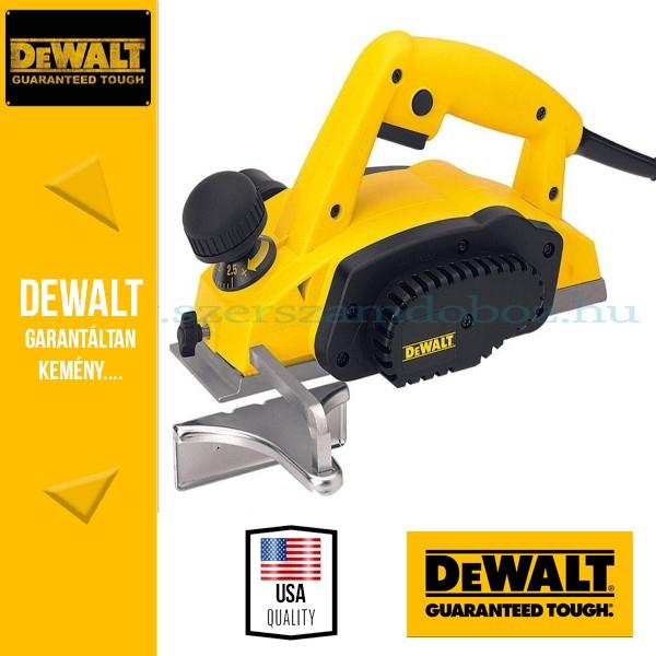 DeWalt DW680K-QS 2,5mm-es gyalu