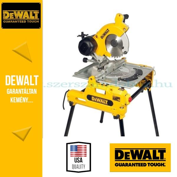 DeWalt DW743N-QS Átfordítható asztalos kombináltfűrész