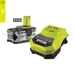 Ryobi RBC18L40 ONE+ Lithium-ion akkumulátor 18V/4,0Ah + töltő csomag