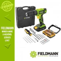 Fieldmann FDV 10352–55AR Akkumulátoros fúrógép szett, 13 mm, 35 Nm (1x 14,4 V / 2000 mAh akkuval és töltővel)