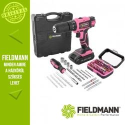 Fieldmann FDV 10353-55AR Akkumulátoros fúrógép szett, rózsaszín, 13 mm, 35 Nm (1x 14,4 V / 2000 mAh akkuval és töltővel)