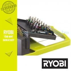 Ryobi RAK46MIX 46 db-os fúrószár + bit készlet