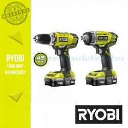 Ryobi R18CK2B-LL13S Akkus fúró-csavarbehajtó (RCD1802M) + Akkus ütvecsavarbehajtó (RID1801M)