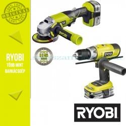 Ryobi R18CK2E-LL15S Akkus ütvefúró-csavarbehajtó (LCDI1802M) + Akkus sarokcsiszoló (R18AG)