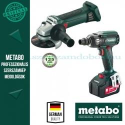 Metabo SSW 18 LTX BL 400 Akkus ütvecsavarbehajtó + Metabo W 18 LTX 125 Akkus sarokcsiszoló