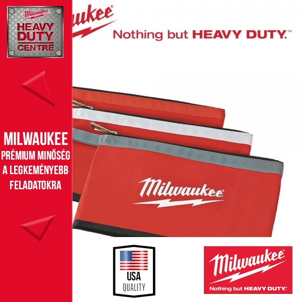 Milwaukee 3 db-os Cipzáros mini táska