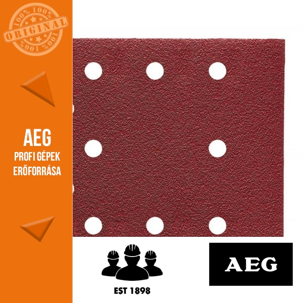 AEG Abrazív csiszolópapír delta csiszolóhoz - tépőzáras 10 db