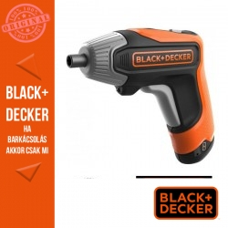 BLACK & DECKER BCF611CK-QW Marokcsavarozó gyorstöltővel és praktikus tárolódobozzal 3,6 V/1,5 Ah