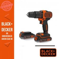 BLACK & DECKER BDCDC18KB-QW 18V 1,5Ah Li-Ion Akkus fúrócsavarozó, 400mA töltővel, 2 akkumulátorral, kofferben