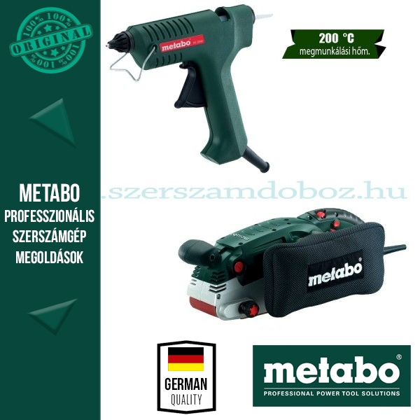 Metabo BAE 75 Szalagcsiszoló + KE 3000 Ragasztópisztoly