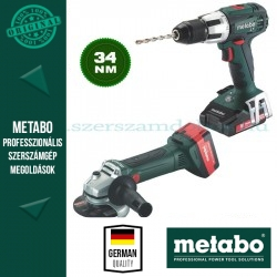 Metabo W 18 LTX 125 Akkus sarokcsiszoló + SB 18 LT Ütvefúró-csavarbehajtó