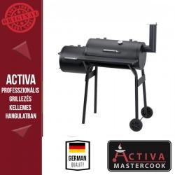 ACTIVA Többfunkciós Faszenes grill füstölővel, 4 az 1 ben