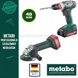 Metabo W 18 LTX 125 Akkus sarokcsiszoló + BS 18 Quick Fúró-csavarbehajtó