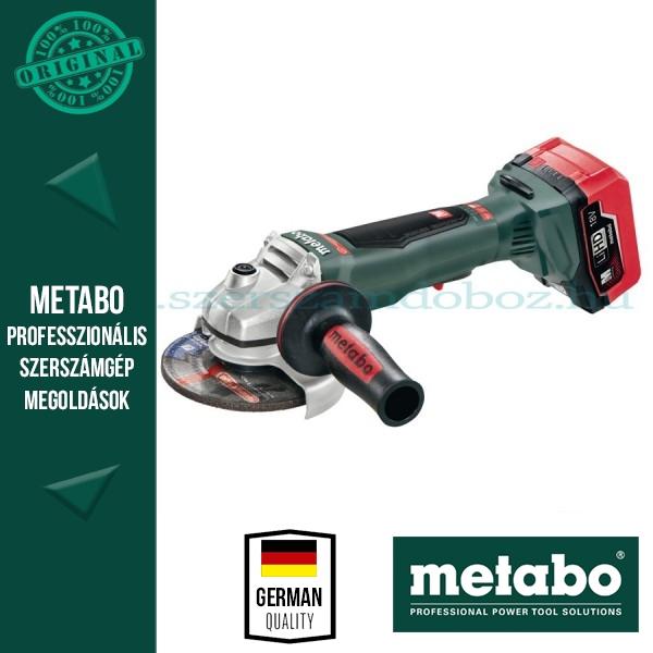 Metabo WPB 18 LTX BL 125 Quick Akkus sarokcsiszoló