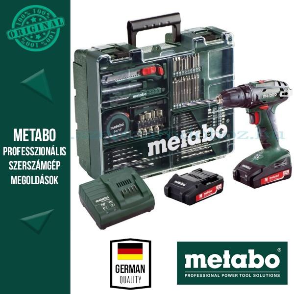 Metabo BS 18 Akkus fúrócsavarozó készlet mobil műhely